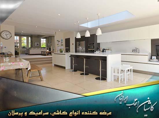 سرامیک کف آشپزخانه زیبا